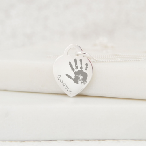 Heart Print Necklace