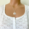 Offset Heart Necklace