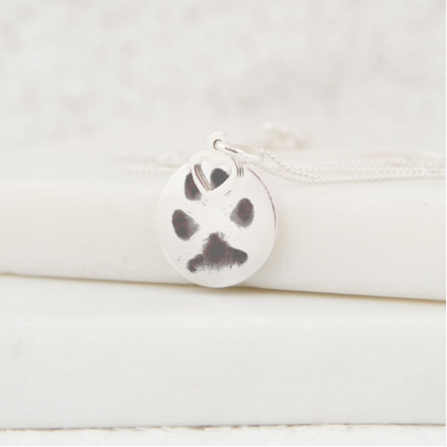 Circle Heart Charm Necklace