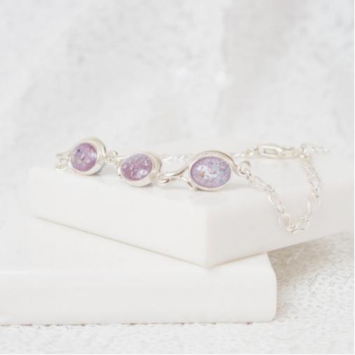 Triple Drop Bracelet - Silver