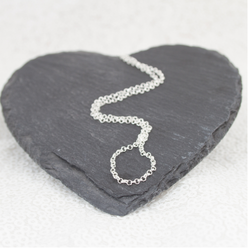 Looped Heart Necklace - Silver