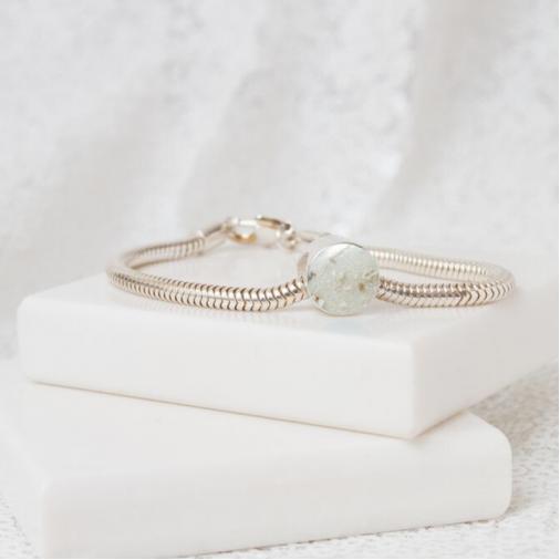 Circle Bracelet Bead - Silver