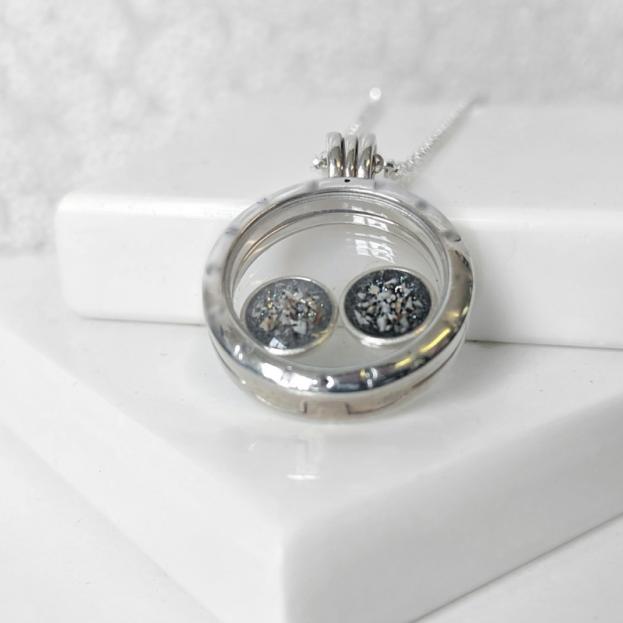 Floating Locket Circle Charms - Silver