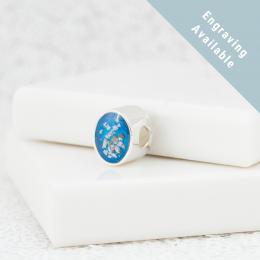 Oval Bracelet Bead - Silver