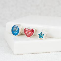 NEW Star Bracelet Bead - Silver