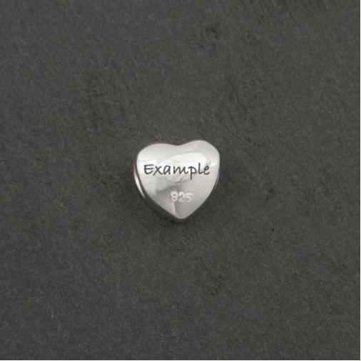 Heart Bracelet Bead - Silver