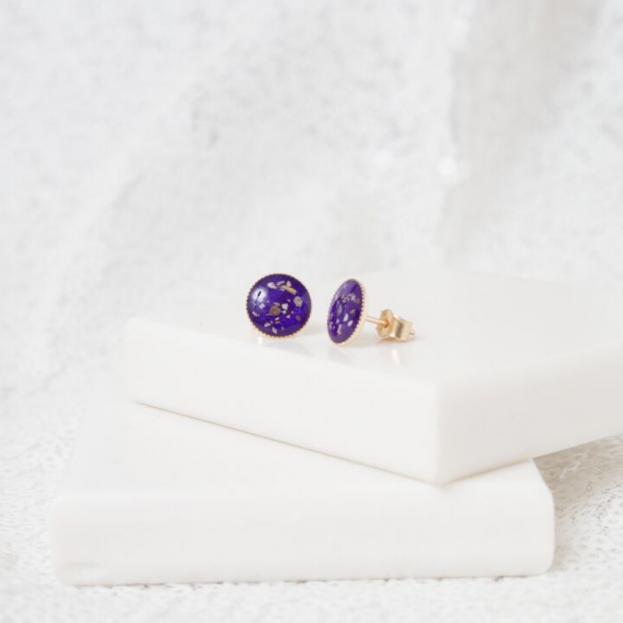 8mm Stud Earrings - Gold