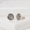 8mm Stud Earrings - Silver