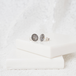 8mm Stud Earrings - Silver