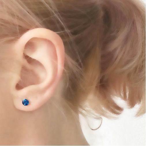 4mm Stud Earrings - Silver