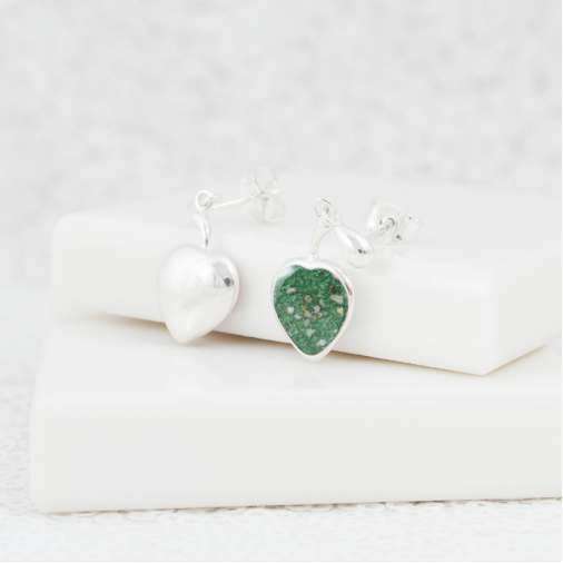 NEW Heart Dangle Earrings - Silver