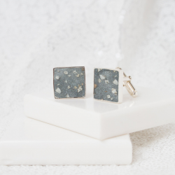 Square Cufflinks - Silver