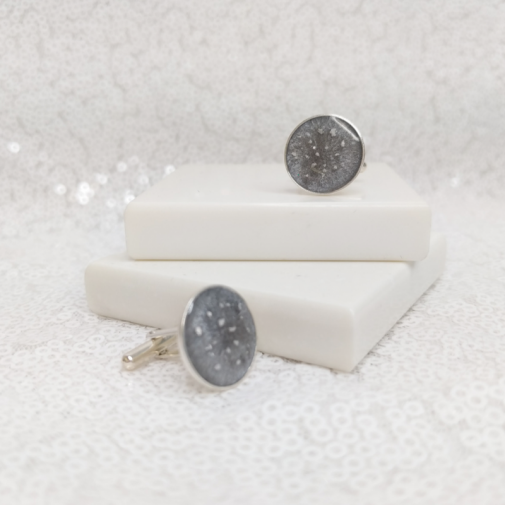 Circle Cufflinks - Silver