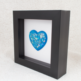 Black Memorial Heart Frames