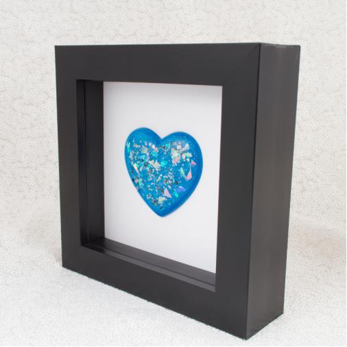 Black Memorial Heart Frames