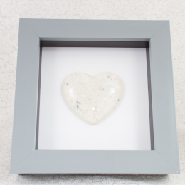 Grey Memorial Heart Frames