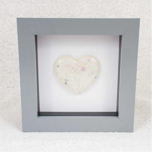 Grey Memorial Heart Frames