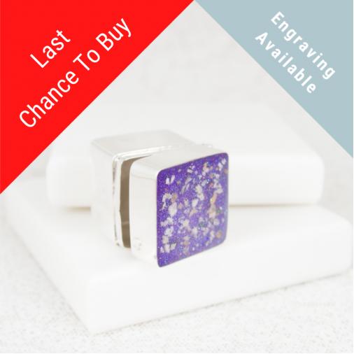 Square Trinket Box - Silver