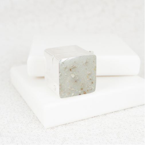 NEW Square Trinket Box - Silver