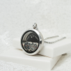 Floating Locket Circle Charms - Silver