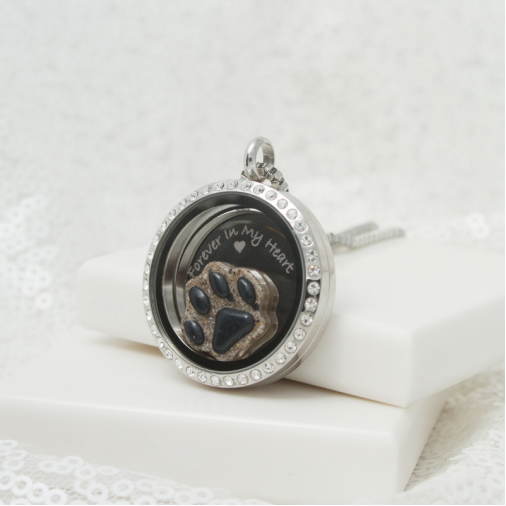 Forever In My Heart Paw Locket