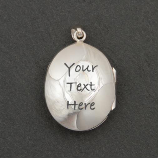 Filigree Oval Locket - Silver