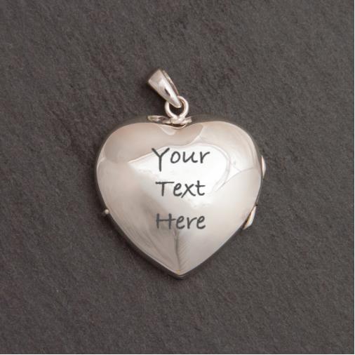 Full Heart Locket - Silver