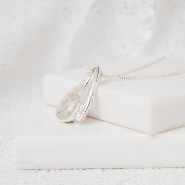 Crystal Necklace - Silver