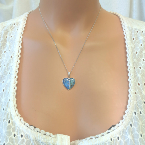 Double Heart Necklace - Silver
