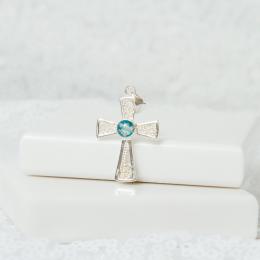 Filigree Cross Necklace - Silver