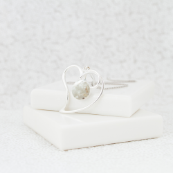 NEW Heart Surround Necklace - Silver