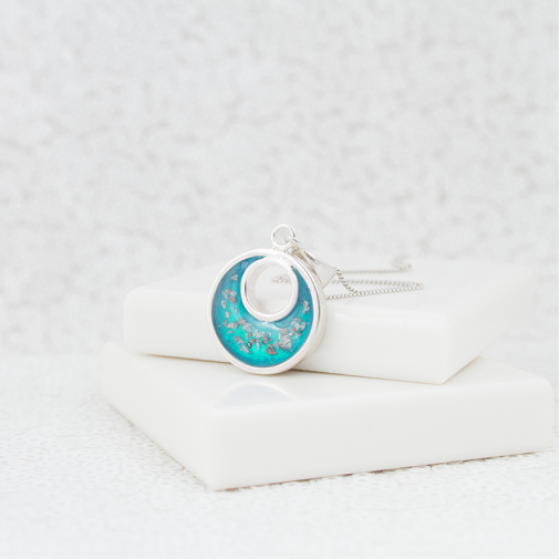Crescent Necklace - Silver