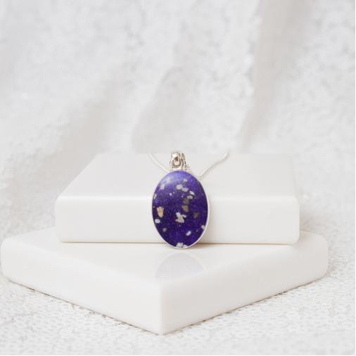 Medium Oval Necklace - Silver