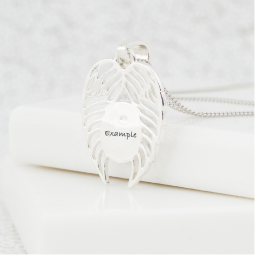 NEW Open Angel Wing Necklace - Silver