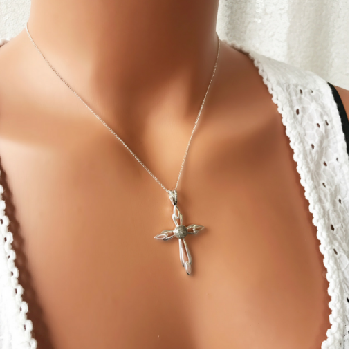Original Cross Necklace - Silver