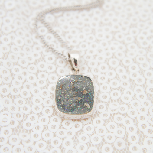 Square Necklace - Silver