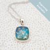 Square Necklace - Silver