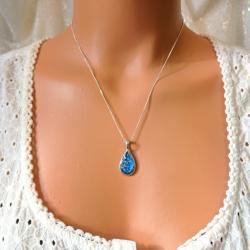 Teardrop Necklace - Silver
