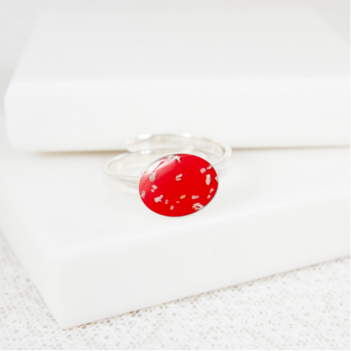 NEW Adjustable Oval Ring - Silver