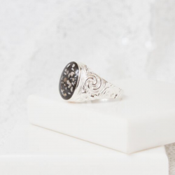 Embossed Ring - Silver