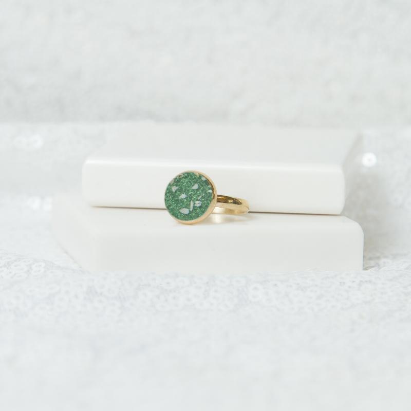 Circle Solitare Ring - Gold