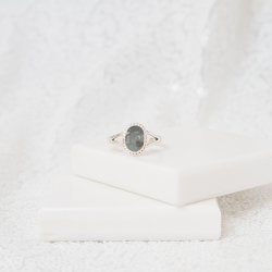 Oval Cut Ring - Silver