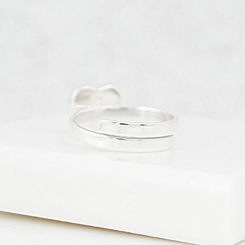 NEW Adjustable Heart Ring - Silver